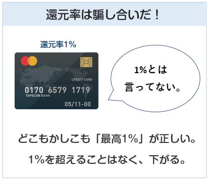 クレジットカードの還元率は騙し合いだ