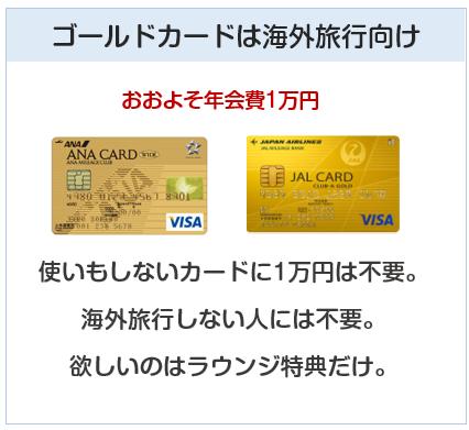 ゴールドカードは海外旅行向け