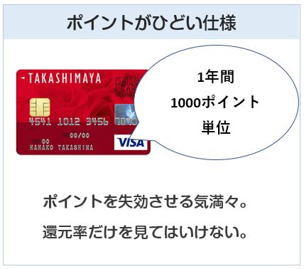 ポイントがひどい仕様のクレジットカードに注意