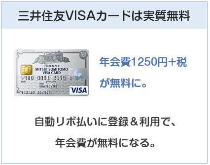 三井住友VISAカードは実質無料