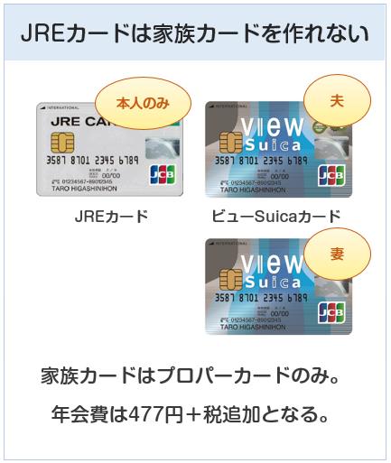 JREカードに家族カードは無い