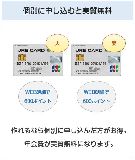 JRE CARDの家族カードは個別に申し込むことをおすすめする