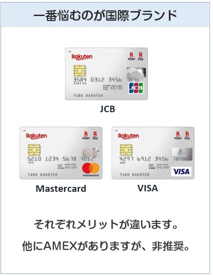楽天カードの国際ブランドについて