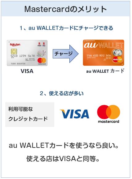 楽天カードの国際ブランド(VMastercard)のメリット